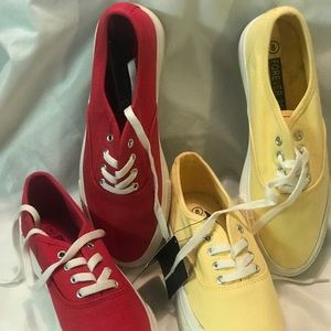 Cute red and yellow Forever 21 sneakers